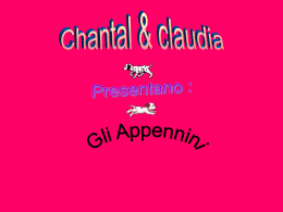 Gli Appennini - WordPress.com