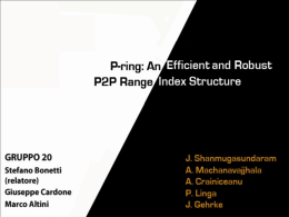 P-Ring: An Efficient and Robust P2P Range Index Structure