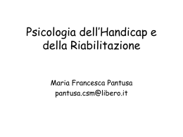 Le classificazioni dell`handicap