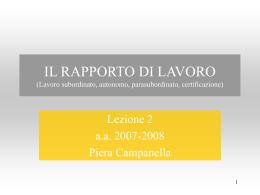 ART. 2094 CC - Università di Urbino
