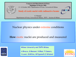 Study of exotic nuclei with radioactive beams
