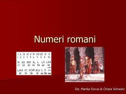 Nummeri romani - WordPress.com