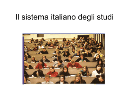 Il sistema delle scuole in italia