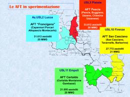 Comunicato: La mappa delle AFT coinvolte nella sperimentazione