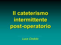 Cateterismo intermittente postoperatorio