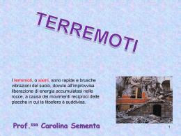 I terremoti - profmatcarolina