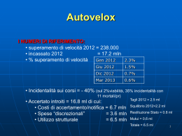Autovelox - PD Rivoli