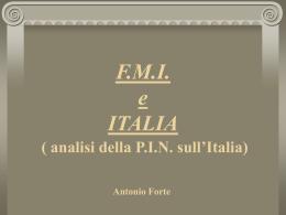 analisi della PIN sull`Italia