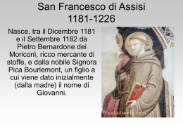 San Francesco d Assisi