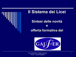 Offerta formativa Galfer 2011_2012