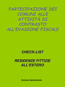Residenze fittizie all`estero