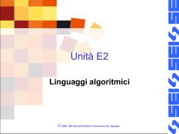 Unità E2-esercizi