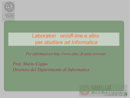Inaugurazione_Laboratori - Corso di Laurea in Informatica
