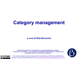 Category management CTM Altromercato