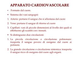 Apparato Cardiovascolare: Il cuore e i vasi