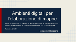 Ambienti digitali per l*elaborazione di mappe