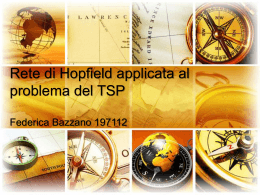 Rete di Hopfield applicata al problema del TSP