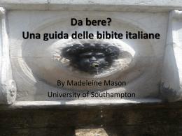 Una guida delle bibite italiane - University of Southampton Blogs