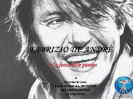 Tesina – Fabrizio De Andrè