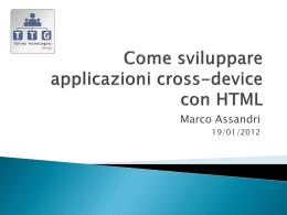 Come sviluppare applicazioni cross-device con HTML