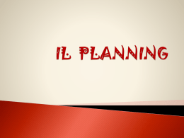 IL PLANNING - Parrocchia SS. Redentore