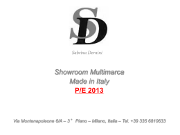 Showroom Alta Moda Milano | Show Room Sabrina Dernini