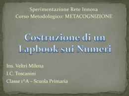 lapbook numeri amici Veltri