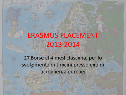 erasmus placement unisalento - slides info