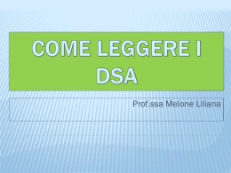 Come leggere i DSA - Blog di i15delpas
