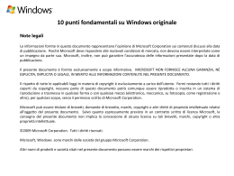 10 punti fondamentali su Windows originale