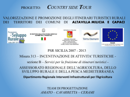 Progetto Country Side Tour - Altavilla Milicia e Capaci