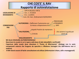 Materiale lab.2 RAV 2015prof.ssa Fatai