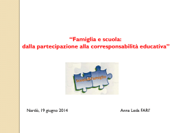 Diapositiva 1 - Ufficio Scuola Diocesi Nardò Gallipoli