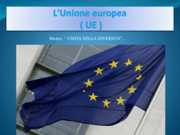 L`Unione europea (abbreviata in UE ) - Over-blog