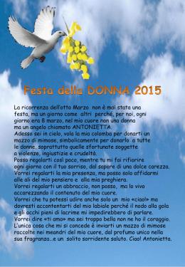 Festa della DONNA 2015