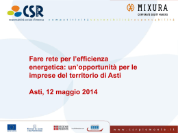 Fare rete per l`efficienza energetica