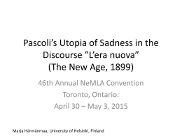 Pascoli*s Utopia - University of Helsinki