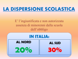 La dispersione scolastica