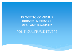 COMENIUS PROJECT BRIDGES IN EUROPE: REAL AND IMAGINED