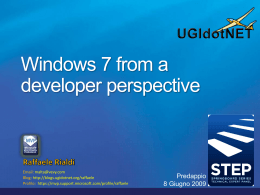 Windows 7 from a developer perspective