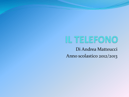 IL TELEFONO. power point