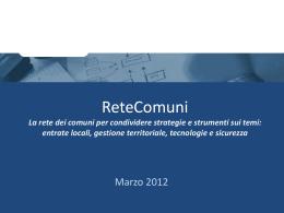 Slide su ReteComuni