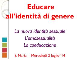 Slides gender - Parrocchia S. Maria