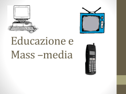 I Mass Media - Scuolasarda.it