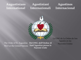 Slide 1 - Augustinians International
