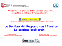 Presentazione corso SIFO