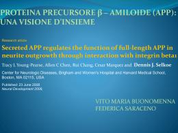 Secreted APP regulates the function of full-length