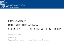 TURCHIA - Studio dispositivi medici