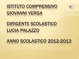 "in Power Point - Istituto Comprensivo Statale ""G. VERGA"""