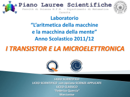 Relazione studenti - Piano Lauree Scientifiche